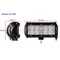 LED фара AllLight 4D-36W 12 chip cree spot 9-30V