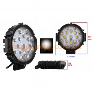 Светодиодная фара AllLight 51W-Black 9-30V spot 17 chip OSRAM