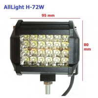 LED фара AllLight H-72W 24 chip CREE 9-30V