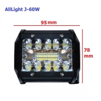 LED фара AllLight J-60W 20 chip EPISTAR 9-30V